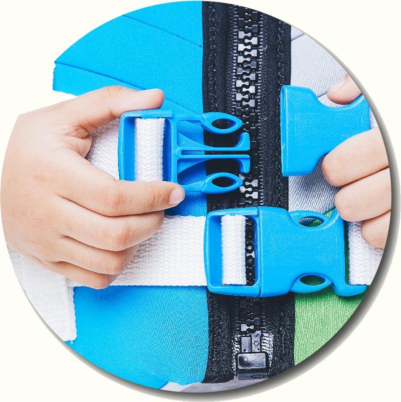 Best Infant Life Vest-Double-Clip-Lock-Buckle